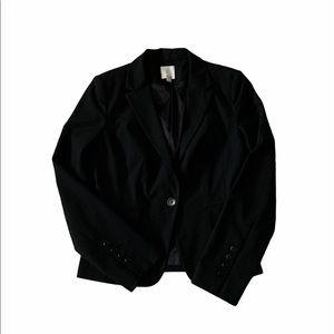 Halogen black blazer jacket size 4